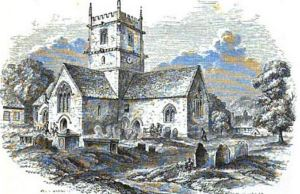 An unnamed church at Stretton in Shropshire from 'Good Words 1863'