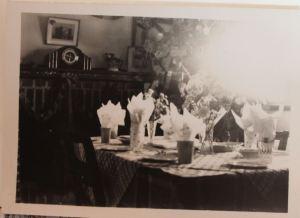 Dining room at Mannus circa 1950