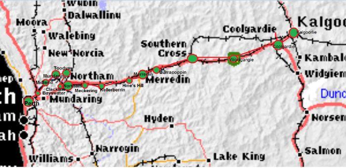 Railway to Kalgoorlie